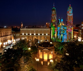 Queretaro at night