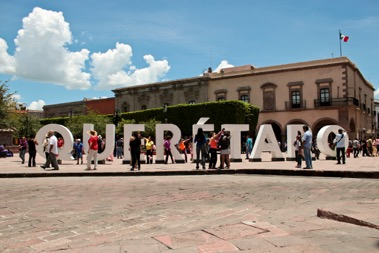 Queretaro sign in the city